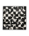 PATCHWORK CARPET: BLACK / WHITE 20X20