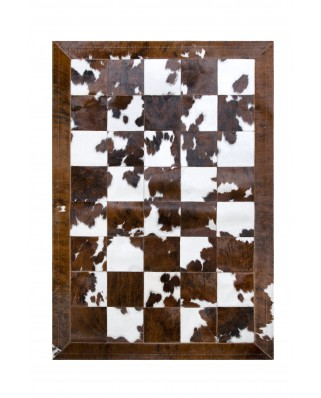 PATCHWORK CARPET: NORMAND COW 20x20