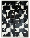 PATCHWORK CARPET: BLACK / WHITE 30X30