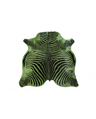 COW PRINTED ZEBRA DYED GREEN