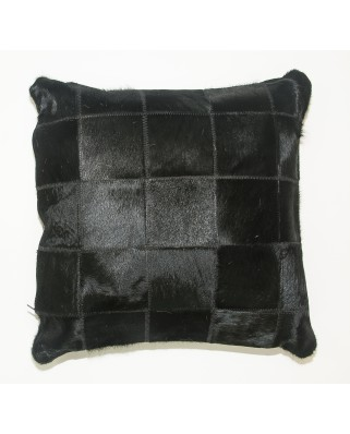 CUSHION DYED BLACK DOUBLE FACE