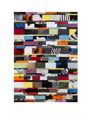 PATCHWORK CARPET STRIPES MULTI