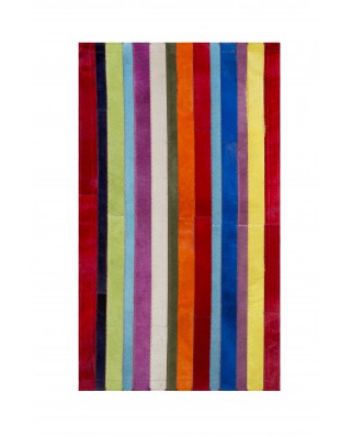 ALFOMBRAS PATCHWORK RAYAS COLORES LISOS VERTICAL