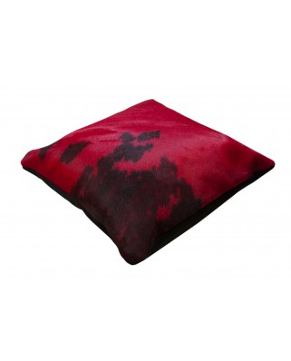 CUSHION NORMAND COW DYED RED
