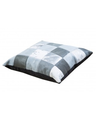 CUSHION GRAYS WHITE SILVER