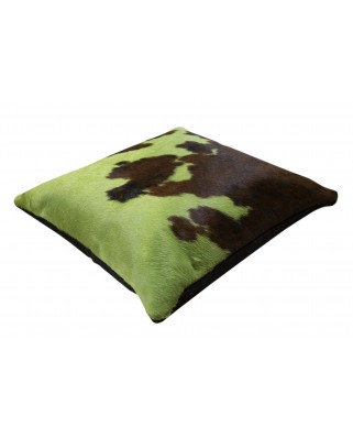 CUSHION NORMAND COW DYED GREEN