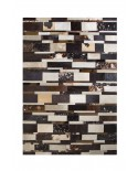 PATCHWORK CARPET STRIPES GRADE BROWNS