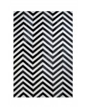 PATCHWORK CARPET STRIPES DESIGN BLACK AND WHITE V