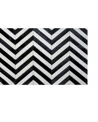 PPATCHWORK CARPET STRIPES DESIGN BLACK AND WHITE V