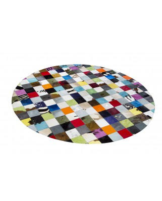 PATCHWORK CARPET: Round multi 150 centimeters