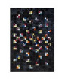 PATCHWORK CARPET: Multy and black 10x10