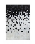 PATCHWORK CARPET: GRADE BLACK WHITE 10X10