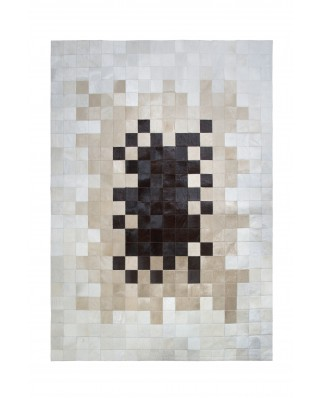 PATCHWORK CARPET: GRADE BROWN-BEIG- WHITE 10X10