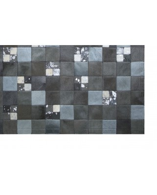 PATCHWORK CARPET: GRAY AND ACID SILVER 10X10 AND 5X5