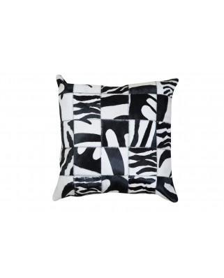 CUSHION patchwork cow printed zebra