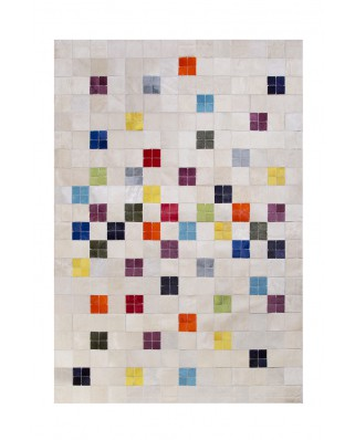 PATCHWORK CARPETS: BEIG MULTI 10X10 5X5